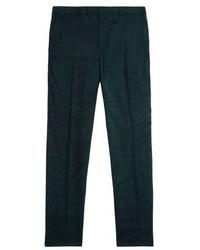 Pantalon de costume vert foncé