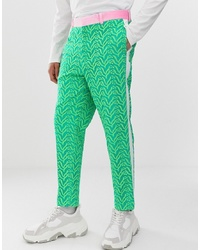 Pantalon de costume vert ASOS Edition
