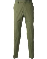 Pantalon de costume vert Valentino