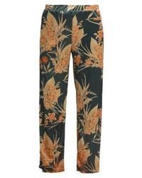 Pantalon de jogging à fleurs vert foncé Vila