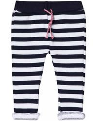 Pantalon de jogging à rayures horizontales bleu marine