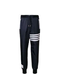Pantalon de jogging à rayures horizontales bleu marine Thom Browne