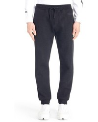 Pantalon de jogging à rayures verticales bleu marine