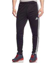Pantalon de jogging à rayures verticales noir et blanc
