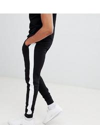 Pantalon de jogging à rayures verticales noir et blanc ASOS DESIGN