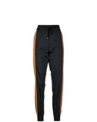 Pantalon de jogging à rayures verticales noir