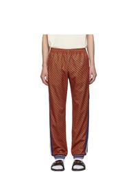 Pantalon de jogging à rayures verticales rouge Gucci