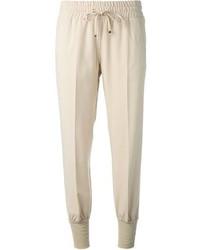 Pantalon de jogging beige