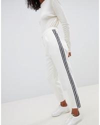 Pantalon de jogging blanc et noir ASOS DESIGN
