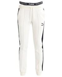 Pantalon de jogging blanc Puma