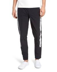 Pantalon de jogging bleu marine et blanc