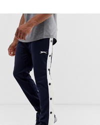 Pantalon de jogging bleu marine et blanc Slazenger
