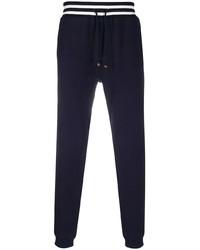Pantalon de jogging bleu marine Brunello Cucinelli