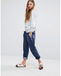 Pantalon de jogging bleu marine MinkPink
