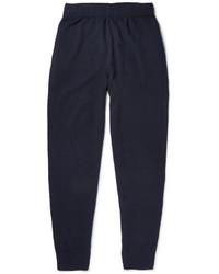Pantalon de jogging bleu marine Sunspel