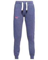 Pantalon de jogging bleu Superdry