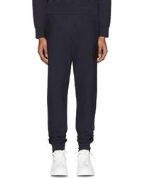Pantalon de jogging brodé bleu marine Alexander McQueen