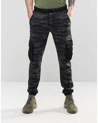 Pantalon de jogging camouflage bleu marine Asos