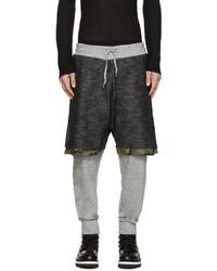 Pantalon de jogging camouflage gris foncé