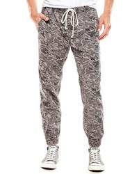 Pantalon de jogging camouflage gris