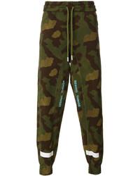Pantalon de jogging camouflage olive