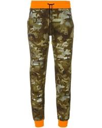 Pantalon de jogging camouflage olive Versus
