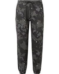 Pantalon de jogging camouflage vert foncé