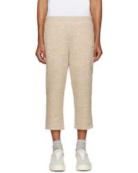 Pantalon de jogging en laine beige Cottweiler