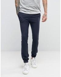 Pantalon de jogging en laine bleu marine Asos
