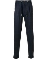 Pantalon de jogging en laine bleu marine Eleventy