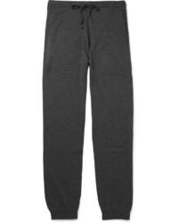 Pantalon de jogging en laine gris foncé