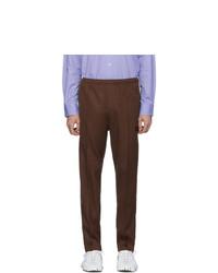 Pantalon de jogging en laine marron foncé Needles
