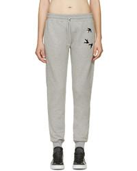 Pantalon de jogging gris MCQ
