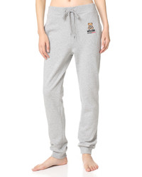 Pantalon de jogging gris Moschino