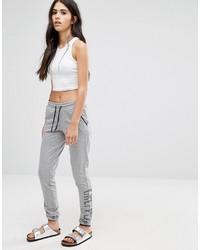 Pantalon de jogging gris Only