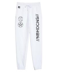 Pantalon de jogging imprimé blanc et noir