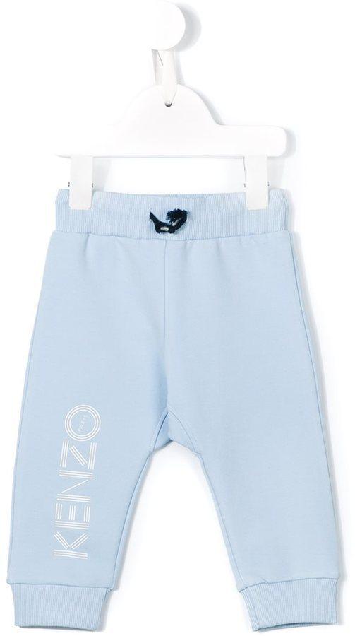 Pantalon de jogging imprimé bleu clair Kenzo
