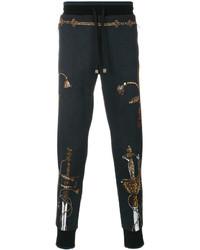 Pantalon de jogging imprimé bleu marine Dolce & Gabbana