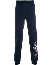 Pantalon de jogging imprimé bleu marine Versace