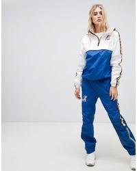 Pantalon de jogging imprimé bleu K-Way