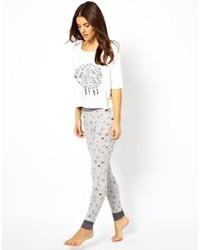 Pantalon de jogging imprimé gris Asos
