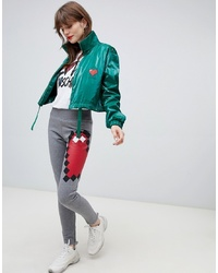 Pantalon de jogging imprimé gris Love Moschino