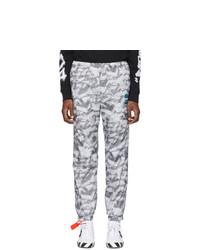 Pantalon de jogging imprimé gris Off-White