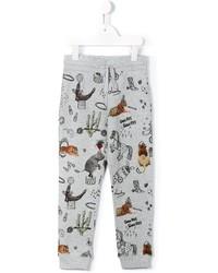 Pantalon de jogging imprimé gris Stella McCartney