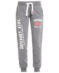 Pantalon de jogging imprimé gris Superdry