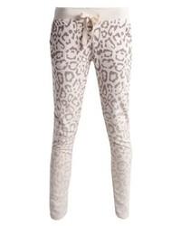 Pantalon de jogging imprimé léopard beige Juvia