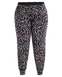 Pantalon de jogging imprimé léopard multicolore New Look