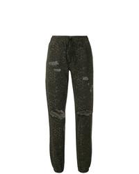 Pantalon de jogging imprimé léopard olive T by Alexander Wang