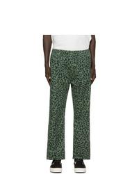 Pantalon de jogging imprimé léopard vert foncé Vyner Articles