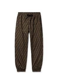 Pantalon de jogging imprimé marron foncé Fendi